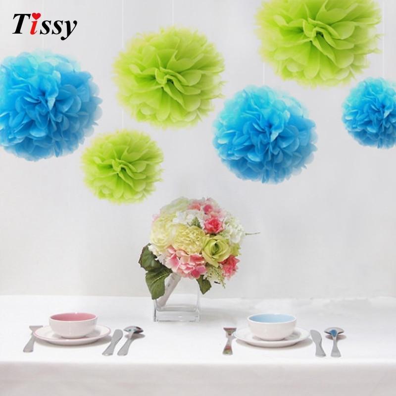1pcs 8inch Artificial Flower Balls Paper Flower Balls Tissue Paper Pom Poms Wedding Decoration Paper Balls Party Decor pompom