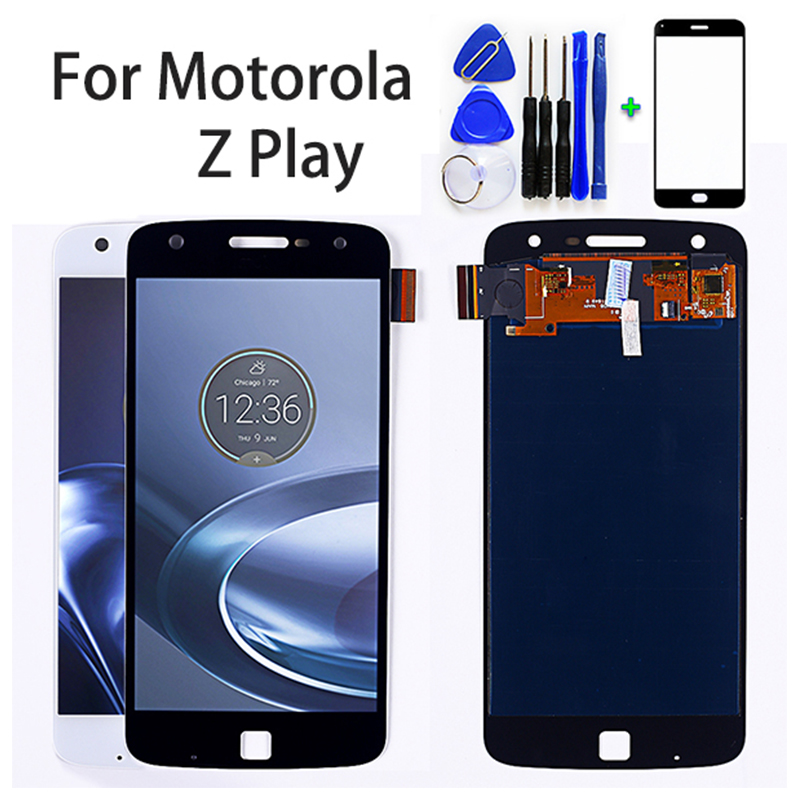 5.5 inch AMOLED <font><b>LCD</b></font> Display For Motorola <font><b>Moto</b></font> <font><b>Z</b></font> <font><b>Play</b></font> <font><b>XT1635</b></font> Touch Screen Digitizer 1920*1080 Assembly Free Tools image