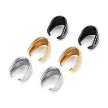 Louleur 10 шт/лот из стали/черного/золотого цвета нержавеющей
