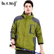 Be A Wolf Outdoor Camping Skiing Hunting Hiking Clothes Fishing Sport Winter Heated Jacket Men Windbreaker Waterproof Jacket 901