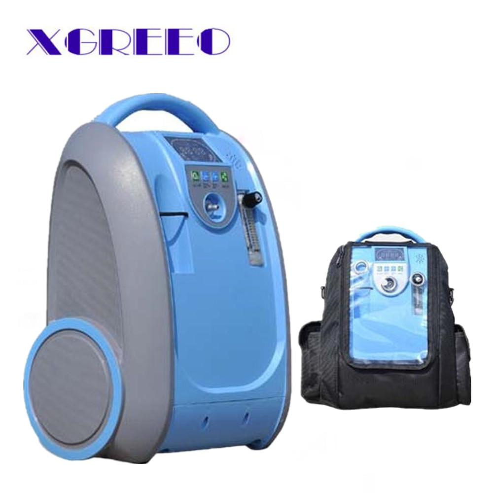COXTO Home Car Travel 1L-5L 90% Adjust Medical Oxygen Concentrator Generator Portable with Battery Car Adpator Carry Bag Trolley coxto home car travel 1l 5l 90