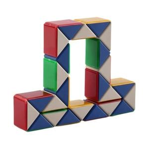 INBEAJY 24-секционный магический куб, линейка змея, Волшебная змея, скрученный пазл, Волшебная линейка, портативная IQ, прочная, для обучения дете...