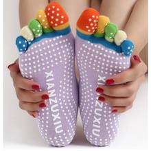 High Quality 5 Toes Cotton Yoga Sports Socks Exercise Pilates Massage non-slip Five Fingers Socks s3