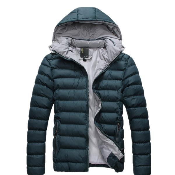 2017 New Men's Winter Cotton-Padded Jackets Wadded Thermal Hood Warm Down Parkas Windproof Waterproof Coat Size M-5XL