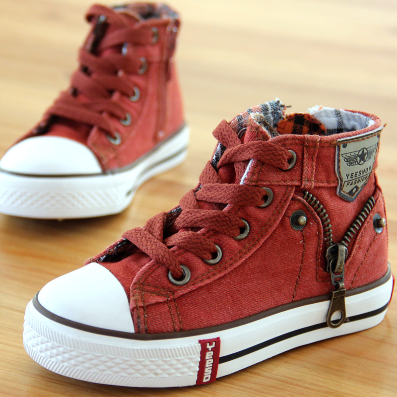 13-kinds-New-Arrived-Size-25-37-Children-Shoes-Kids-Canvas-Sneakers-Boys-Jeans-Flats-Girls-Boots-Denim-Side-Zipper-Shoes-5