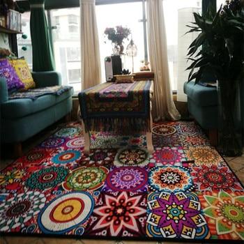 Alfombra Vintage de estilo étnico para el hogar Alfombra de Tatami con...