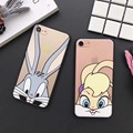 Cute Fashion Bug Bunny rabbit clear hard Phone Case For iPhone7 7Plus 6 6S Plus 5 5S SE