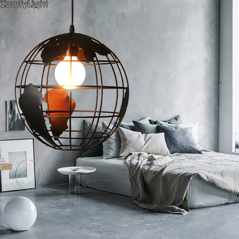 Retro Edison Pendant Light Nordic simple bar hanging lamp restaurant/bedroom/bedside light home Decor creative LED pendant lamp nordic simple ceramic bar hanging lamp colored pendant light restaurant bedroom bedside lights modern lighting