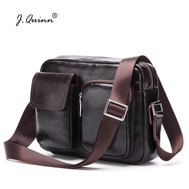 b66d70e9fd37 J.Quinn Genuine Leather Men Bags Fashion Brand Designer Men s Travel Crossbody  Bags Shoulder Handbags Messenger Bags Briefcase
