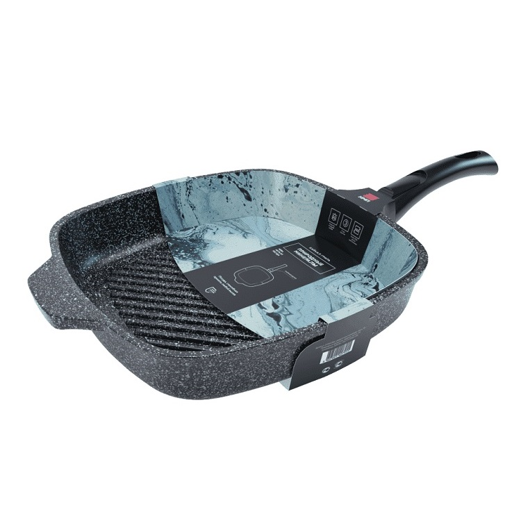 Сковорода-гриль Нева металл посуда, Природные минералы, Байкал, 28 см сковорода нева металл 2528 байкал 28 см