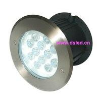 Aço inoxidável  CE  IP67  de alta potência 12 W CONDUZIU a luz subterrânea  CONDUZIU a luz inground  DS-11S-20-12W  12X1 W  D180mm  12 V DC  110-250VAC