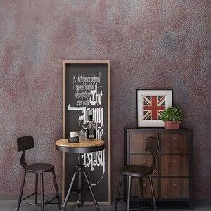 Image 5 - Dark Gray Vintage Vinyl Concrete Wall Effect Wallpaper Retro Plain Texture PVC Wall Paper Bedroom Living Room Background Decor