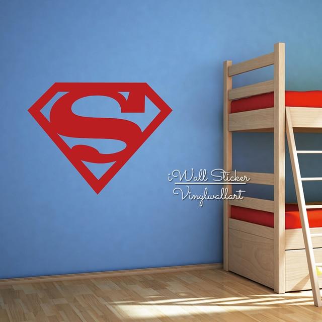 Bon Baby Nursery Superman Wall Sticker Boys Superman Wall Decal Children Wall  Sticker For Kids Room DIY