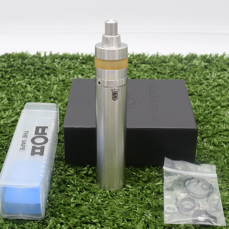 2019 SXK Atto Mod Kayfun Lite Rta Kit 18350/18650 Battery 22MM 316ss 2.0ml Capacity Vaporizer Mechanical Mod E Cigarette Vape
