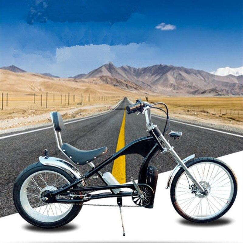 Polegada 500 W 48 24 V 12Ah Hailey bicicleta elétrica, mountain bike moda Harley freio a disco de bicicleta de lazer de praia fabricante wh