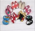Cuero suave de Los Bebés Zapatos Infantiles Niñas Zapatillas Nuevo Estilo Primeros Caminante Resbalón-Prueba de Niños Zapatos de Cuero 0-6 6-12 12-18 18-24
