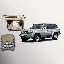 Bigbigroad для Nissan Patrol крыше автомобиля установлен в автомобиль светодиодный цифровой Экран Поддержка HDMI USB FM ТВ игры ИК удаленного флип Подпушка DVD