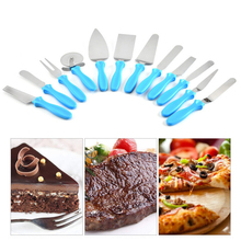 купить TTLIFE 11pcs Stainless Steel Pizza Cake Shovel Cheese Scraper Pizza Cutter Baking Tool Set Kitchen Gadget Set Kitchen Tool по цене 81.18 рублей