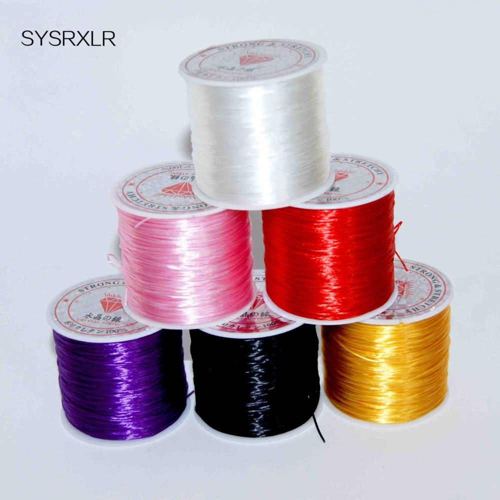 60 M Colorful Flexible Elastic Crystal Line Rope Cord For The Manufacture Of Jewelry Beadwork Wire Fishing Thread Rope Bracelet60 M Colorful Flexible Elastic Crystal Line Rope Cord For The Manufacture Of Jewelry Beadwork Wire Fishing Thread Rope Bracelet