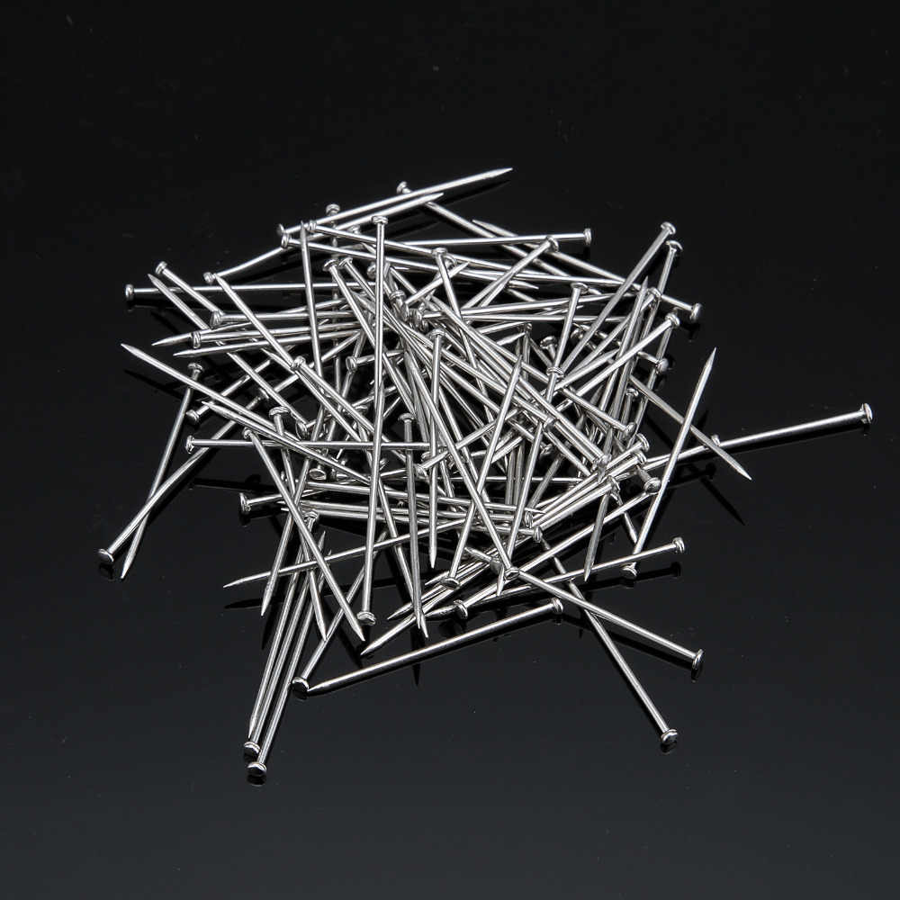 25mm 200 pcs silver  Study and office stationery wholesale boxed pin  Hardware Pins