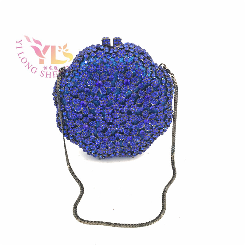 Flower Crystal Evening Clutch Hand Bag for Special Occasion 2017 Summer Fashion Clutch Crystal Bag Design Purse YLS-F03 evening clutch bags green clutch fancy crystal purse special occasion handbags crossbody day clutches yls g88