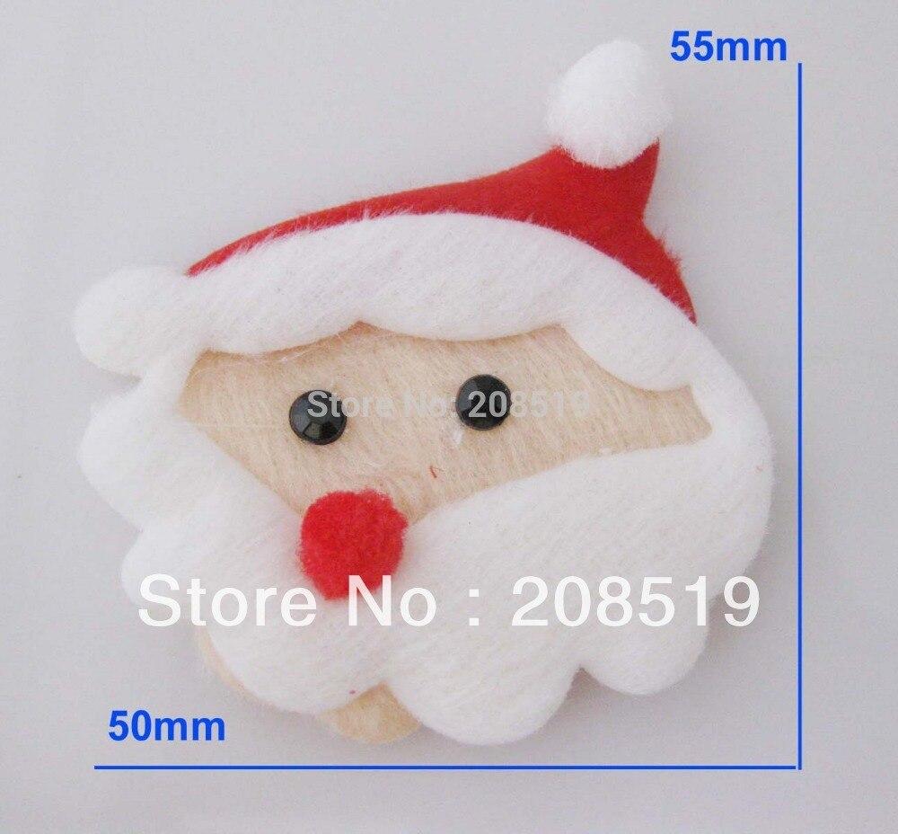 ₩PA0040 Santa Claus Navidad parche 20 unids no tejido Fieltro ...