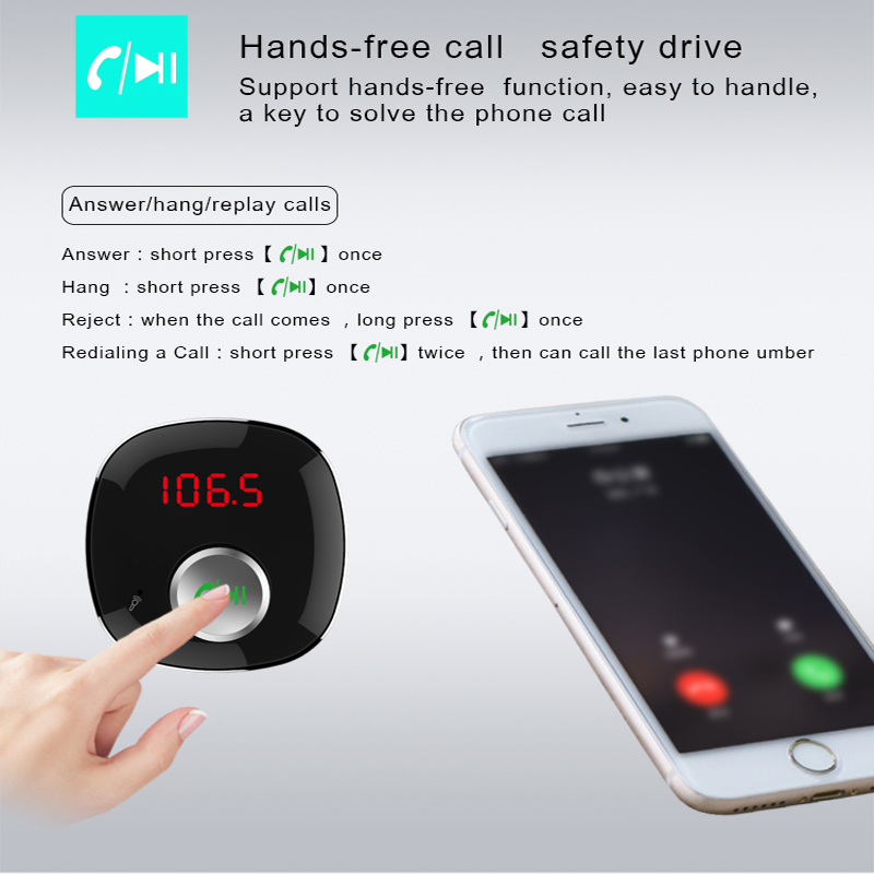 STOD ორმაგი USB მანქანის Bluetooth - მობილური ტელეფონი ნაწილები და აქსესუარები - ფოტო 5