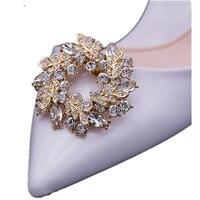 1 par mulheres sapatos encantos da flor-high heel bombas acessórios clipes de sapato de cristal de diamante Moda decoração do casamento de presente de fivela