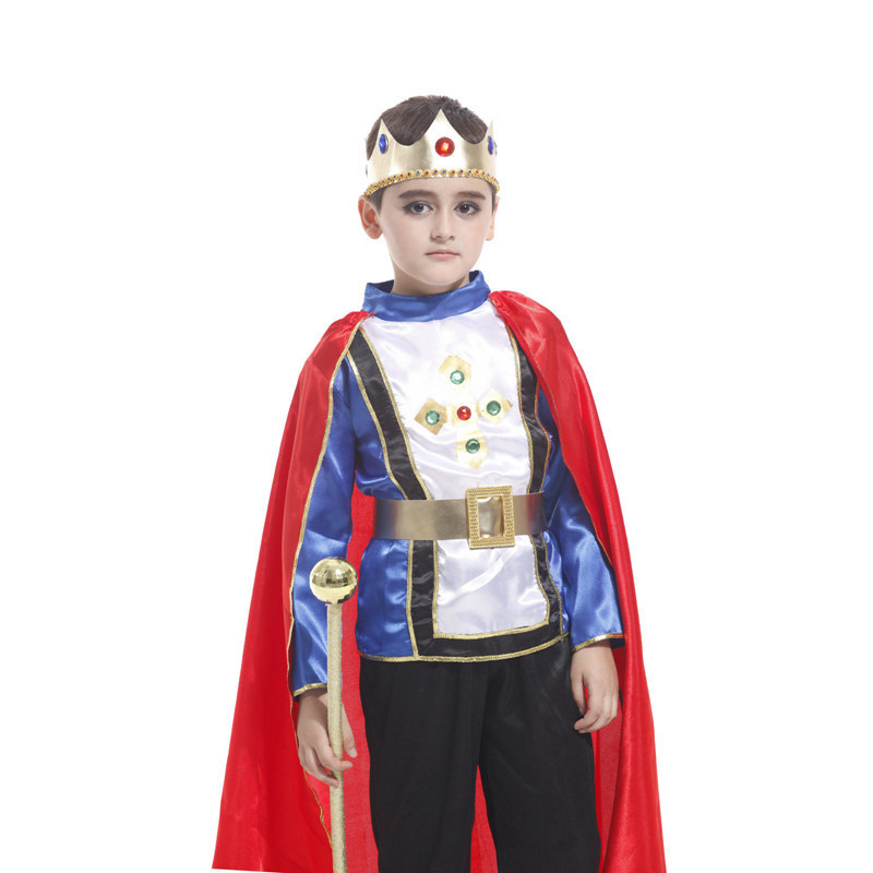 Promotion Kids King Costume Halloween Cosplay Silky Satin Tops Pants Cape Royal Crown Boys Prince Role Play Children Play Games-in Boys Costumes from ...  sc 1 st  AliExpress.com & Promotion Kids King Costume Halloween Cosplay Silky Satin Tops Pants ...