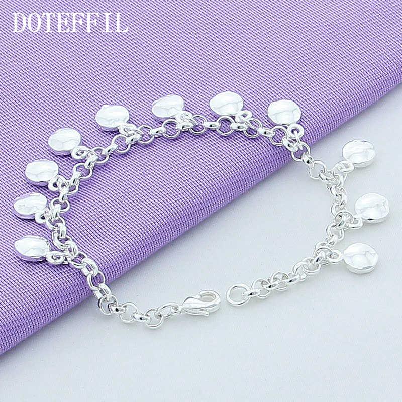 Christmas 2019 925 Silver Color Bracelet Jewelry Feminine Charm Beads Plated Silver Bracelet Wholesale Jewelry