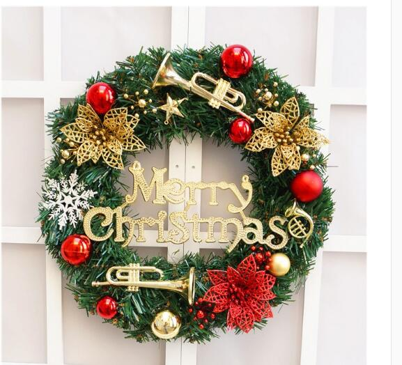 Christmas Wreath 40cm Christmas Balls Red Christmas Wreath Christmas  Decorations Rattan Ring