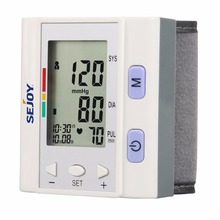 1pc Wrist Type Blood Pressure Monitor LCD Digital Tonometer Sphygmomanometer With IHB Detection Automatic Power off
