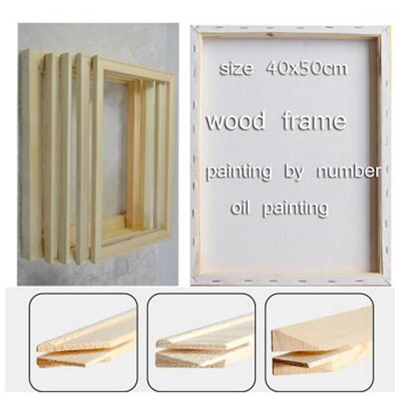 Wood frame for canvas oil painting Factory Price Wood frame for canvas oil painting nature40x50cm DIY frame picture inner frame