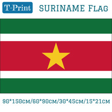 Free shipping Suriname National Flag 90*150cm/60*90cm/15*21cm 30*45cm Car