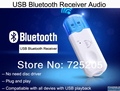 Bluetooth Wireless Receiver USB Audio Receiver Stereo Bluetooth4.0 for USB Amplifier Speaker Music Converter White Free Shipping
