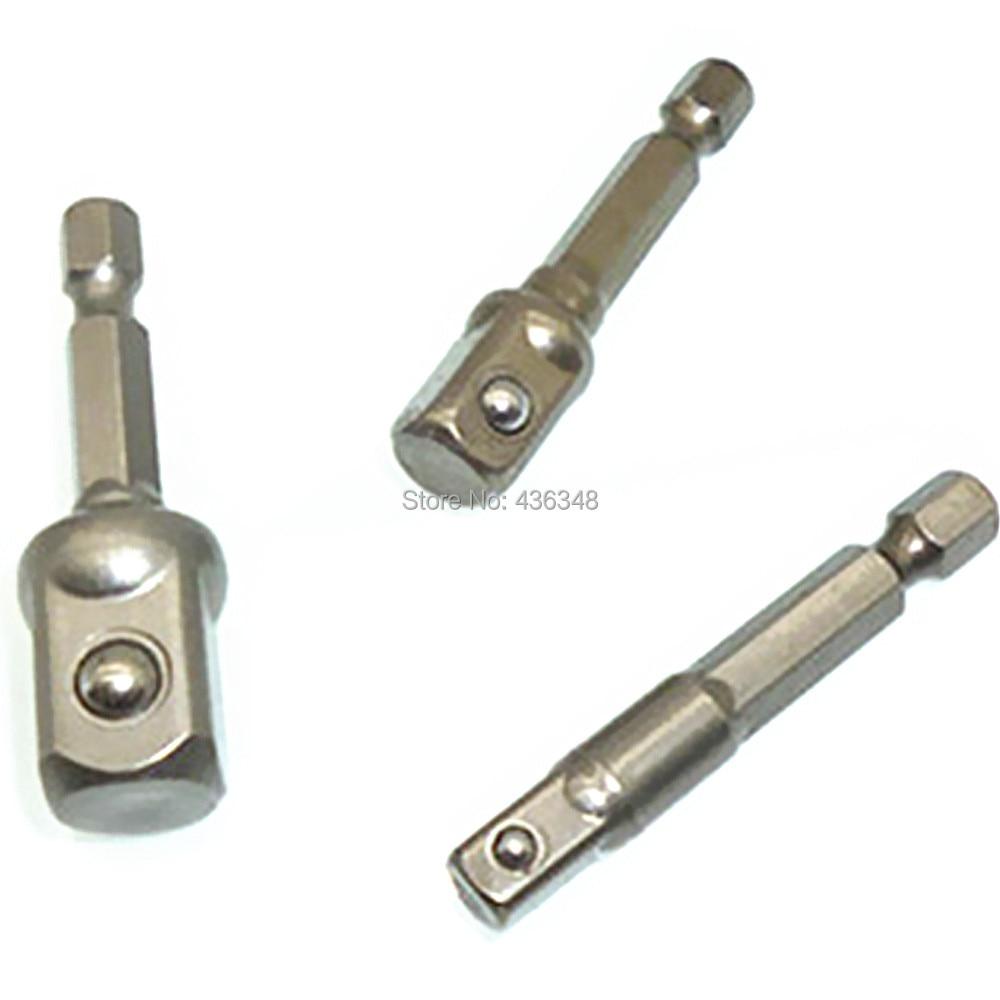 """3x SDS Plus Drill Socket Driver 1//4/"""" 3//8/"""" 1//2/"""" Adapter 2x 1//4/"""" Hex Bit Holder"""