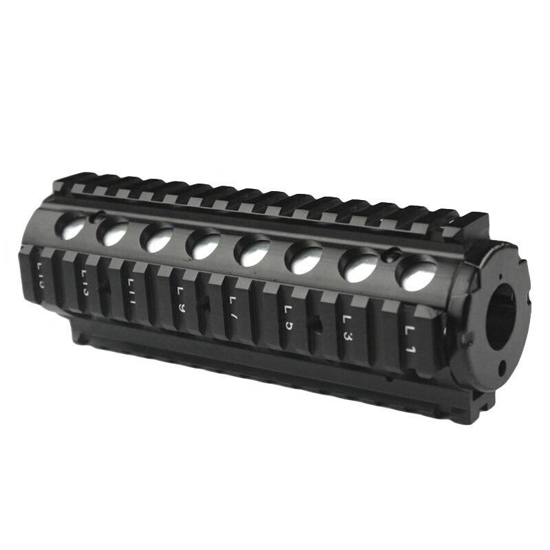 Haute qualité M4A1 M4 CQBR MK18Mod0 7 pouces CNC RIS Handguard avec étui avant pour J9 boule de Gel d'eau blaster AEG