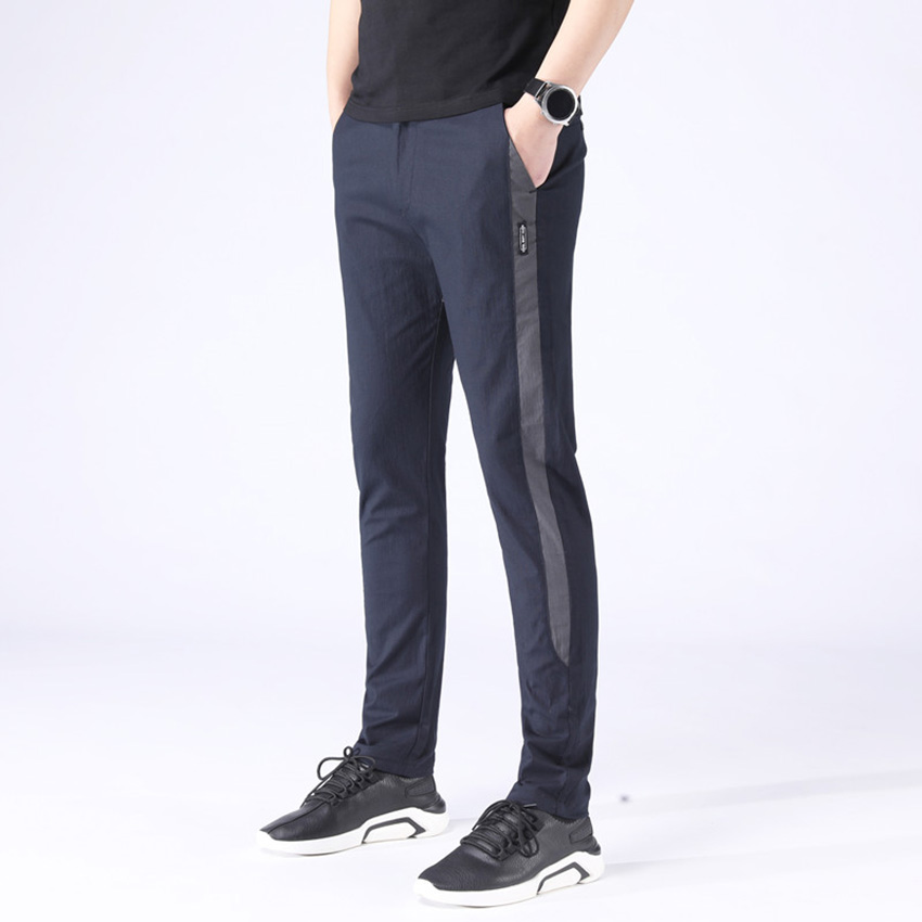 HCXY 2019 Spring Autumn Men's Smart Casual Pants Men Slim Fit Pencil Pants Male Micro Stretch Trousers For Men