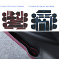 19Pcs/Set Car Styling Slot Pad High Match Low Match Interior Door Groove Mat Latex Anti-Slip Cushion For Honda City 2015