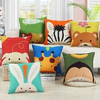 New Fashion Modern Creative Animal Print Cushion Square 45 55cm Linen Cotton Sofa Seat Chair Back