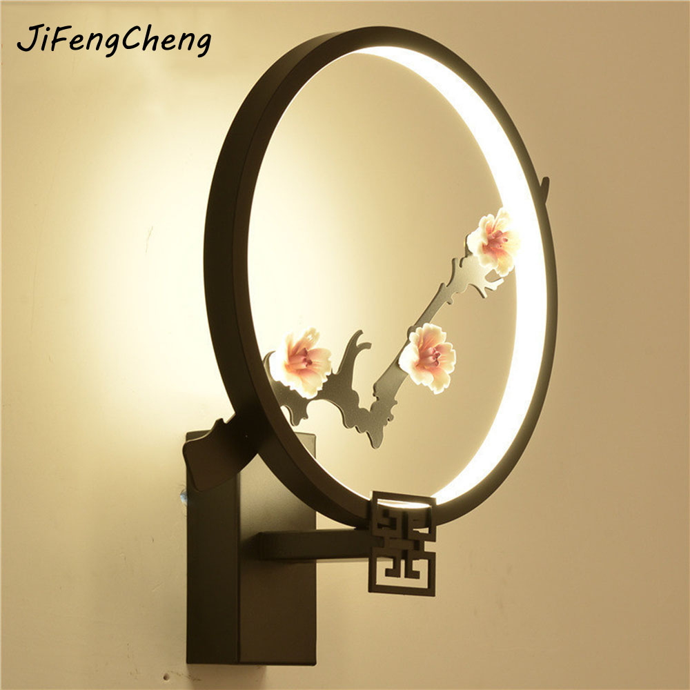 LED Wall Lamp Creative Bedside Bedroom Lighting Acrylic Circular Corridor Wall Lamp 30W Simple Modern Aisle Lamp Luminarias modern minimalist 9w led acrylic circular wall lights white living room bedroom bedside aisle creative ceiling lamp