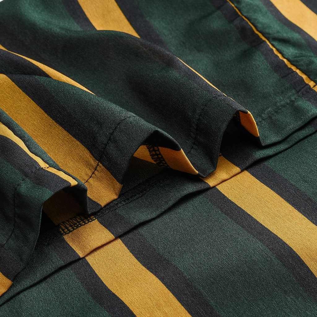 Camisa casual a rayas de manga larga a la moda con cuello redondo de primavera y otoño para mujer blusa a rayas Casual blusa superior de la comarca #524