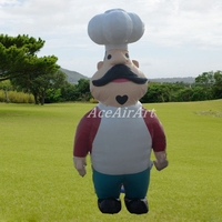 Free shipping inflatable cook inflatable chef for restaurant advertising