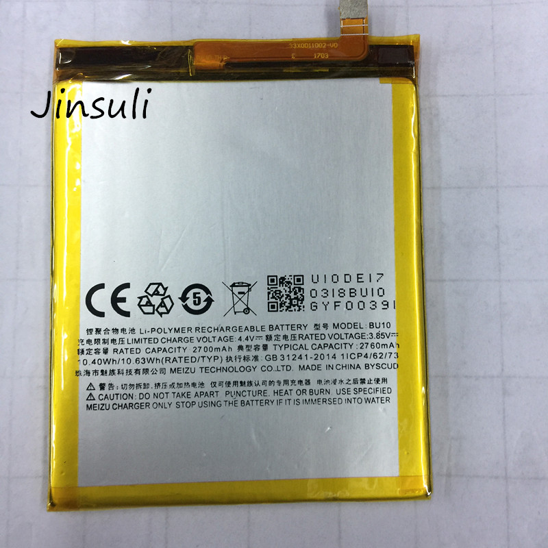 US $7 3 |jinsuli For MEIZU U10 Battery BU10 Battery 2760mAh Free Shipping  With Tracking Number-in Mobile Phone Batteries from Cellphones &