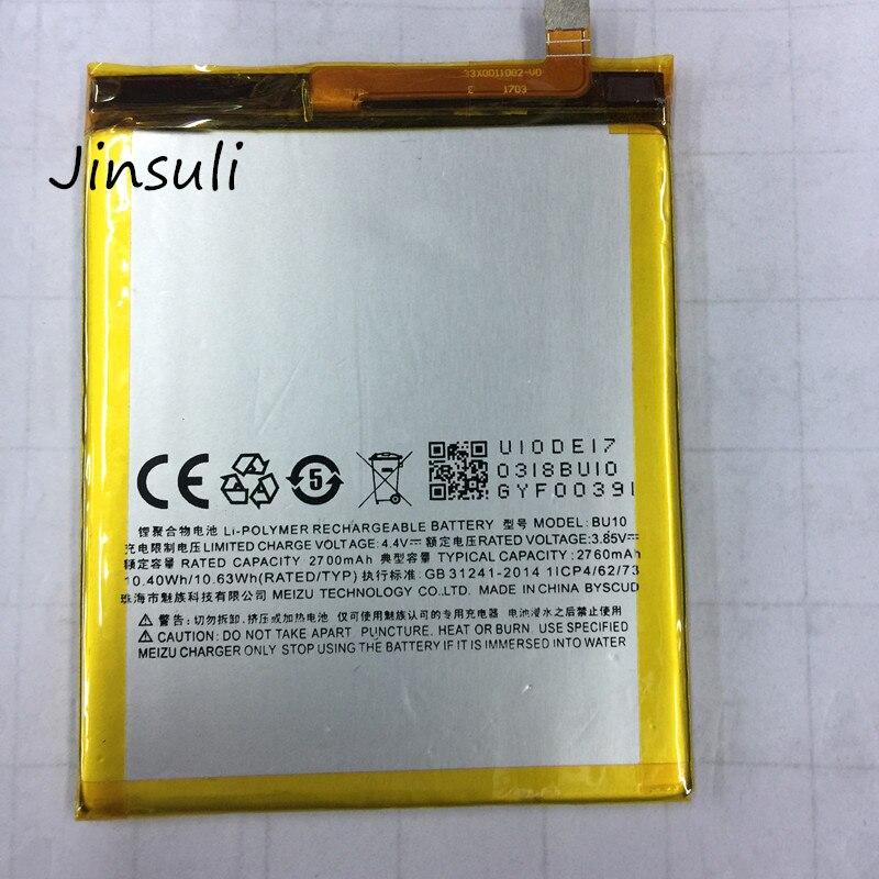 jinsuli For MEIZU U10 Battery BU10 Battery 2760mAh Free Shipping With Tracking Number