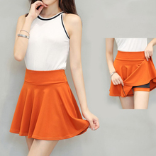 Women's Summer Skirts A line High Waist Pleated Skirt Female Mini Skirt With Shorts Plus Size Tennis Sport Skirts High Quality все цены