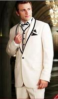 2017 Latest Coat Pant Designs White Wedding Suit for Men Custom Made Suits Jacket Formal Groom 3 Pieces Tuxedo Terno Masculino S