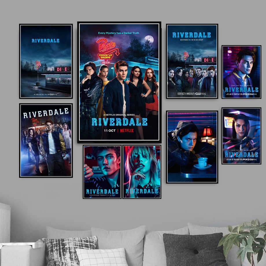 New Riverdale Season 2 3 TV Series Show Pop Movie Anime Art Painting Poster And Prints Wall Pictures For Living Room Home Decor