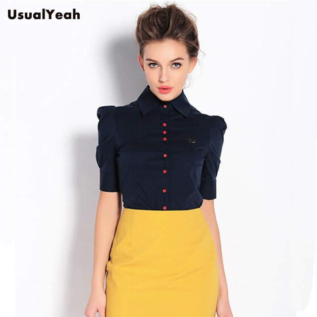 439a1f41e27 Интернет-магазин Мода 2015! Женская рубашка с коротким рукавом ...