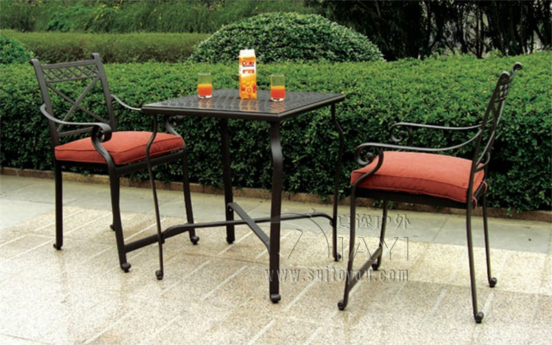 3-piece New design bar table and chair cast aluminum garden furniture for outdoor 3 piece cast aluminum table and chair patio furniture garden furniture outdoor furniture white